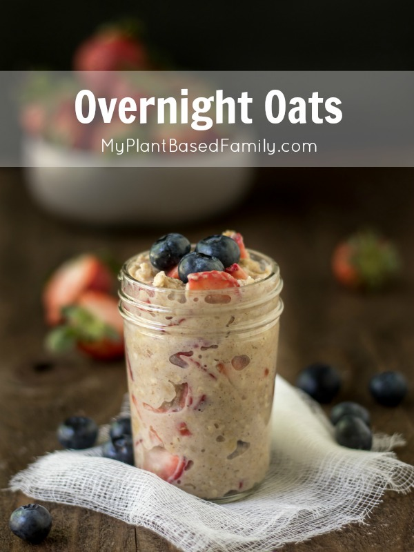 Need a quick, easy and healthy breakfast? Overnight Oats is vegan (plant-based) option will simplify your mornings. Use GF oats for a gluten-free version.
