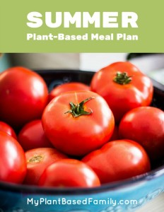 Summer meal plan that is plant-based with gluten-free options. Includes shopping list and recipes in a download.