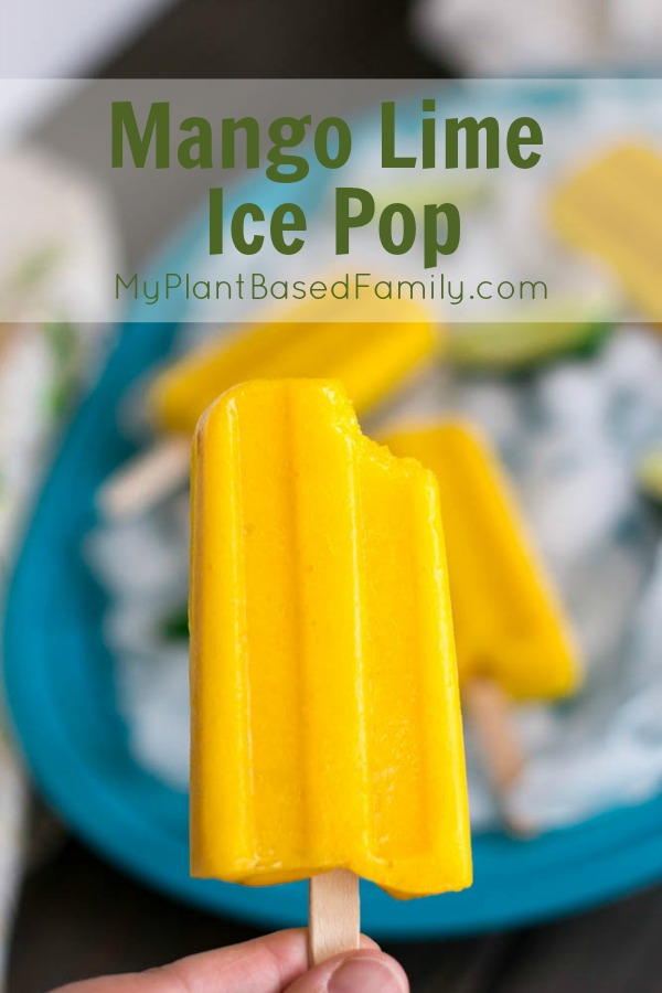 Mango Lime Ice Pops are a great frozen treat that is healthy and tasty. These vegan treats are still creamy even without the dairy.