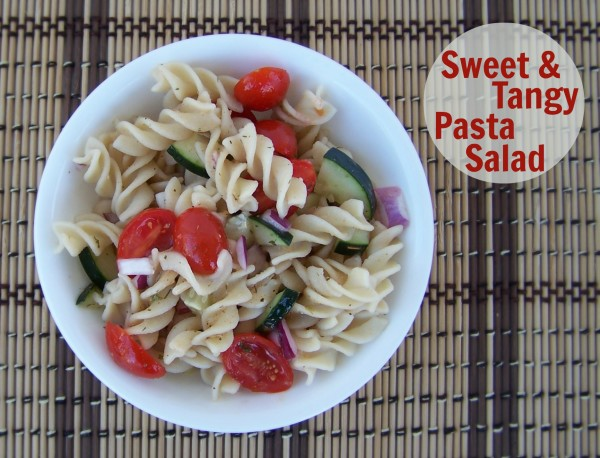 Sweet and Tangy Pasta Salad is gluten-free, vegan and perfect for summer potlucks.