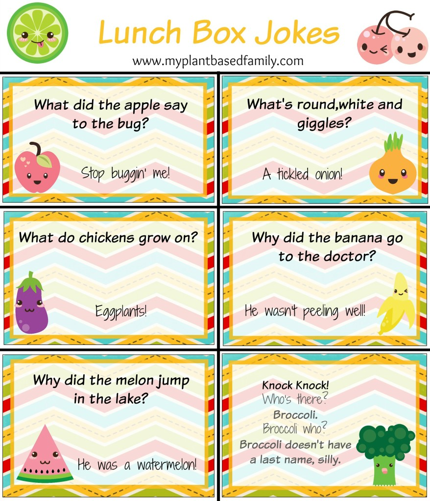photo about Lunch Box Jokes Printable referred to as Absolutely free Printable Lunch Box Playing cards - My Plant-Dependent Household