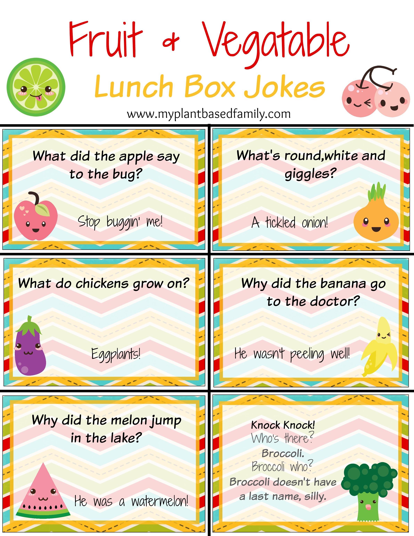 Fruit and Veggie Lunch Box Jokes