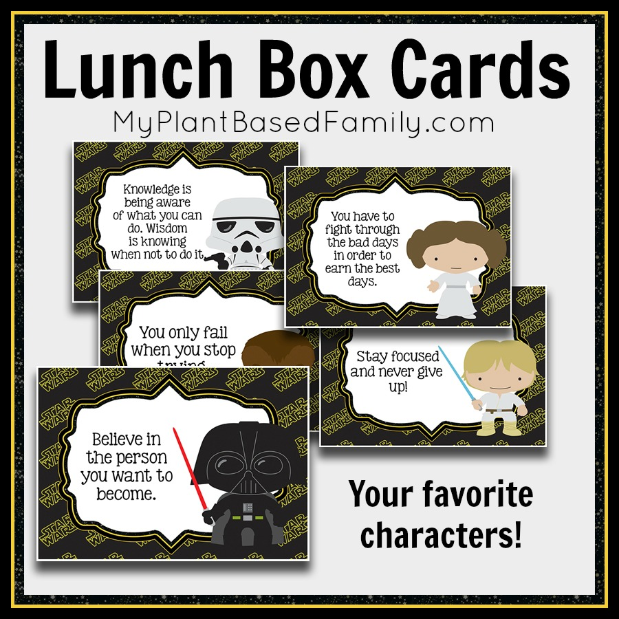 Star Wars Lunch Box Cards