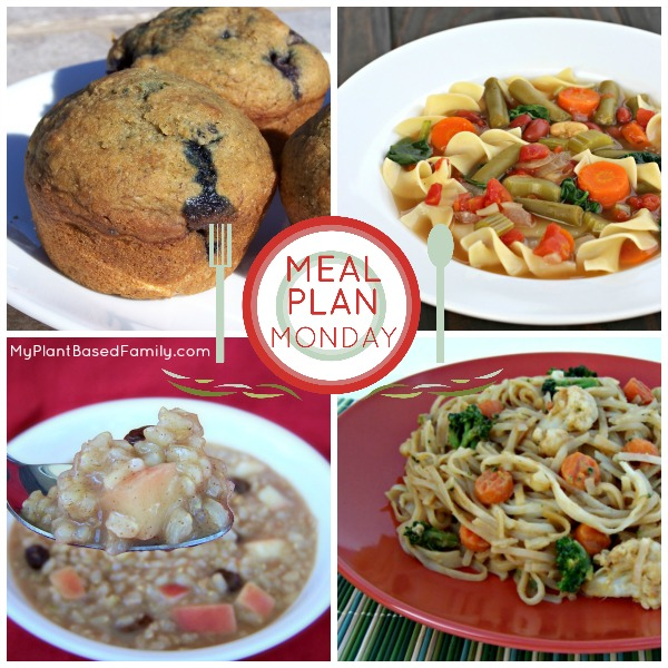 Meal Plan Monday with a plant-based meal plan! Almost gluten-free too.