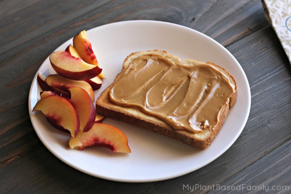 Fast and Easy Breakfast with SoyNut Butter Toast and fruit
