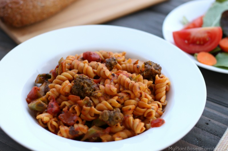 Try this Busy Night Pasta recipe! It's simple and fast! Make a pasta dinner tonight in the Instant Pot!