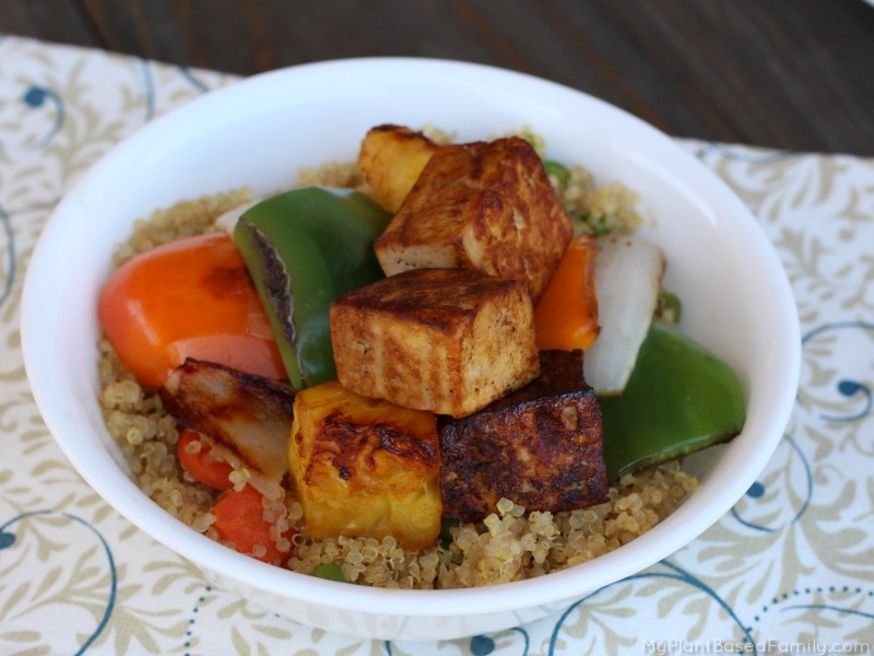 These easy Tofu Kabobs are a great way to introduce your family to tofu!