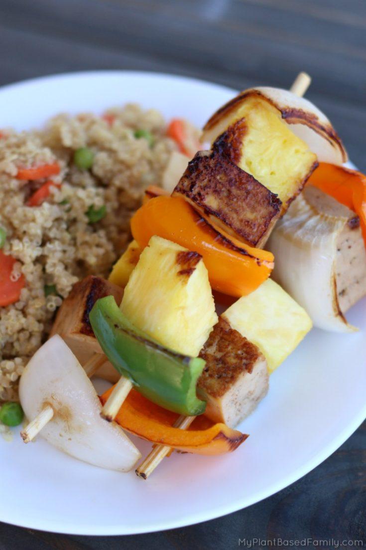 Pineapple and Tofu Kabobs