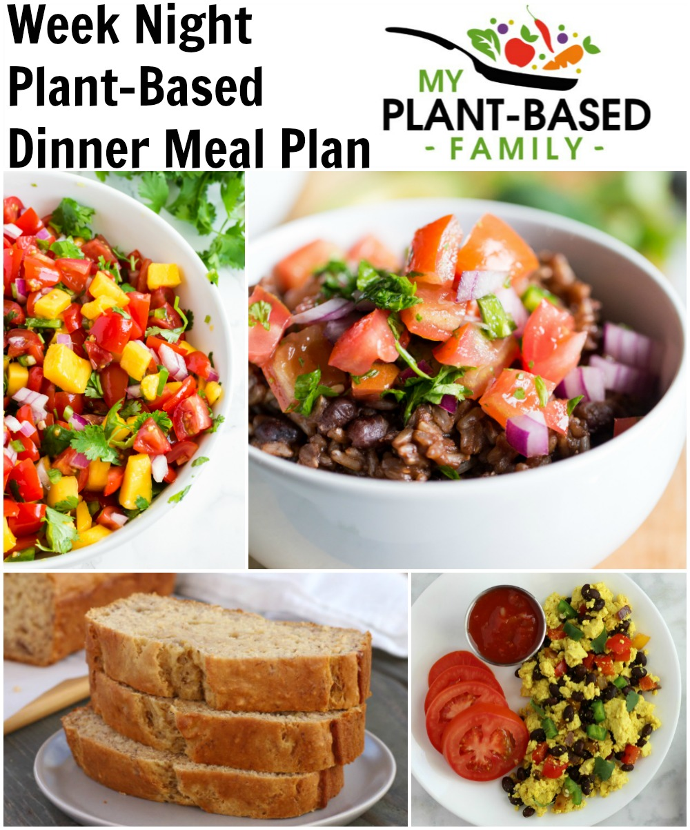 Week Night Plant-Based Dinners Meal Plan