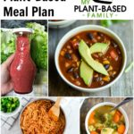 Plant-Based Meal Plan with soup's, pasta and salad dressing.