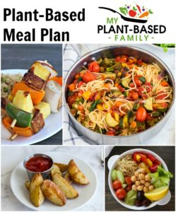 A Plant-Based Meal Plan featuring soups, pasta and easy meal prep recipes.