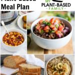 Plant-Based Meal Plan with Goulash, Mexican Casserole, Oatmeal and Banana Bread.