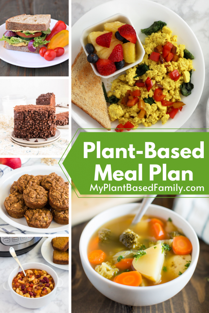 Plant-Based Meal Plan featuring breakfast, lunch, dinner and snacks.