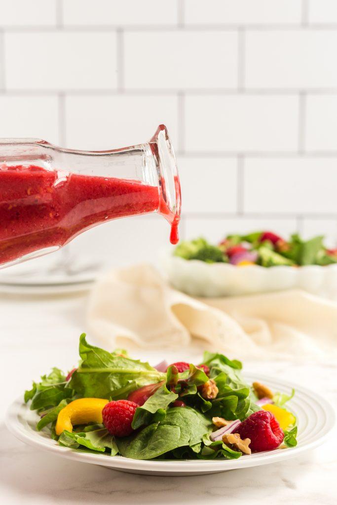 Oil-free Raspberry Vinaigrette!