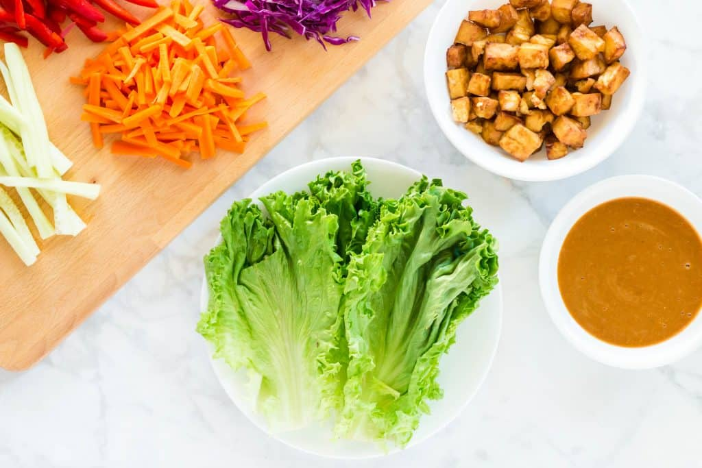 Vegan Lettuce Wrap ingredients