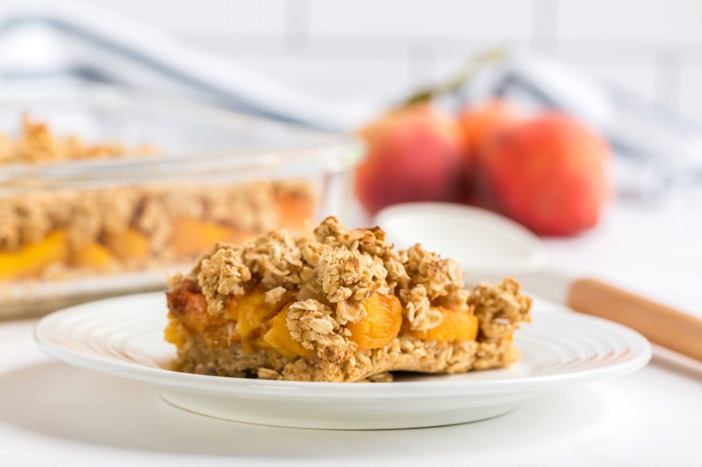 Vegan Peach Crisp