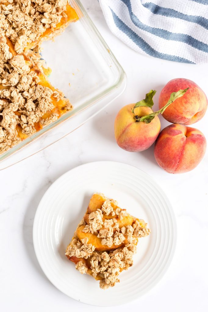Oil-Free Vegan Peach Crisp