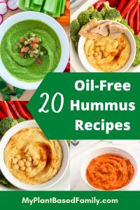 Oil-Free hummus recipes