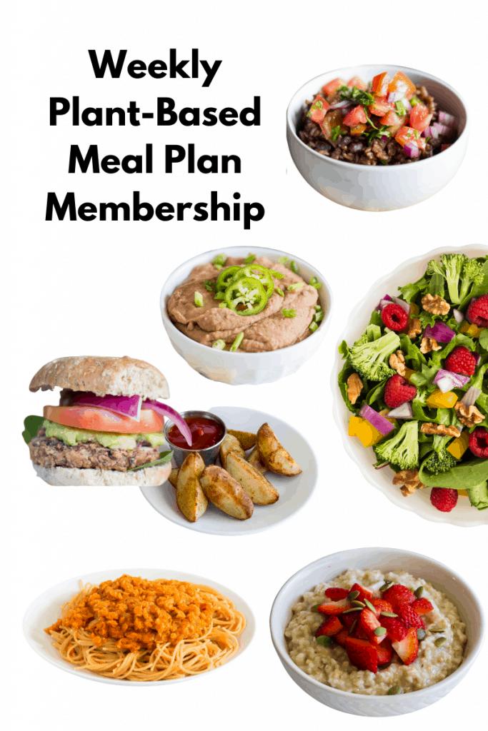 Weekly Plant-Based Diet Meal Plan membership