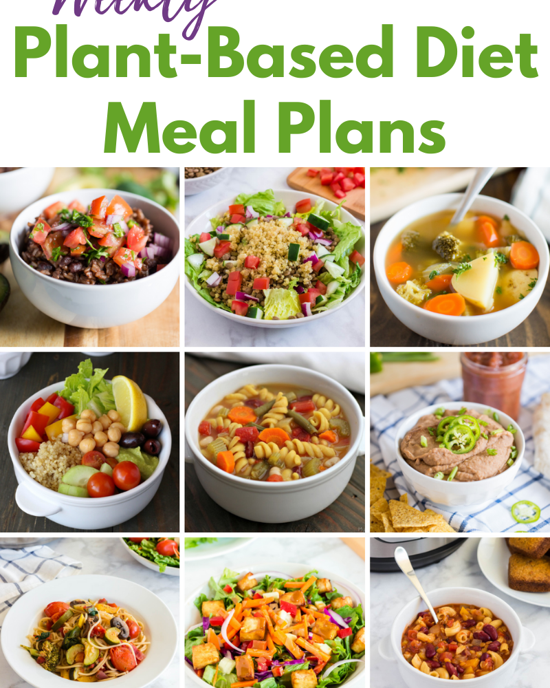 weekly plant-based diet meal plans