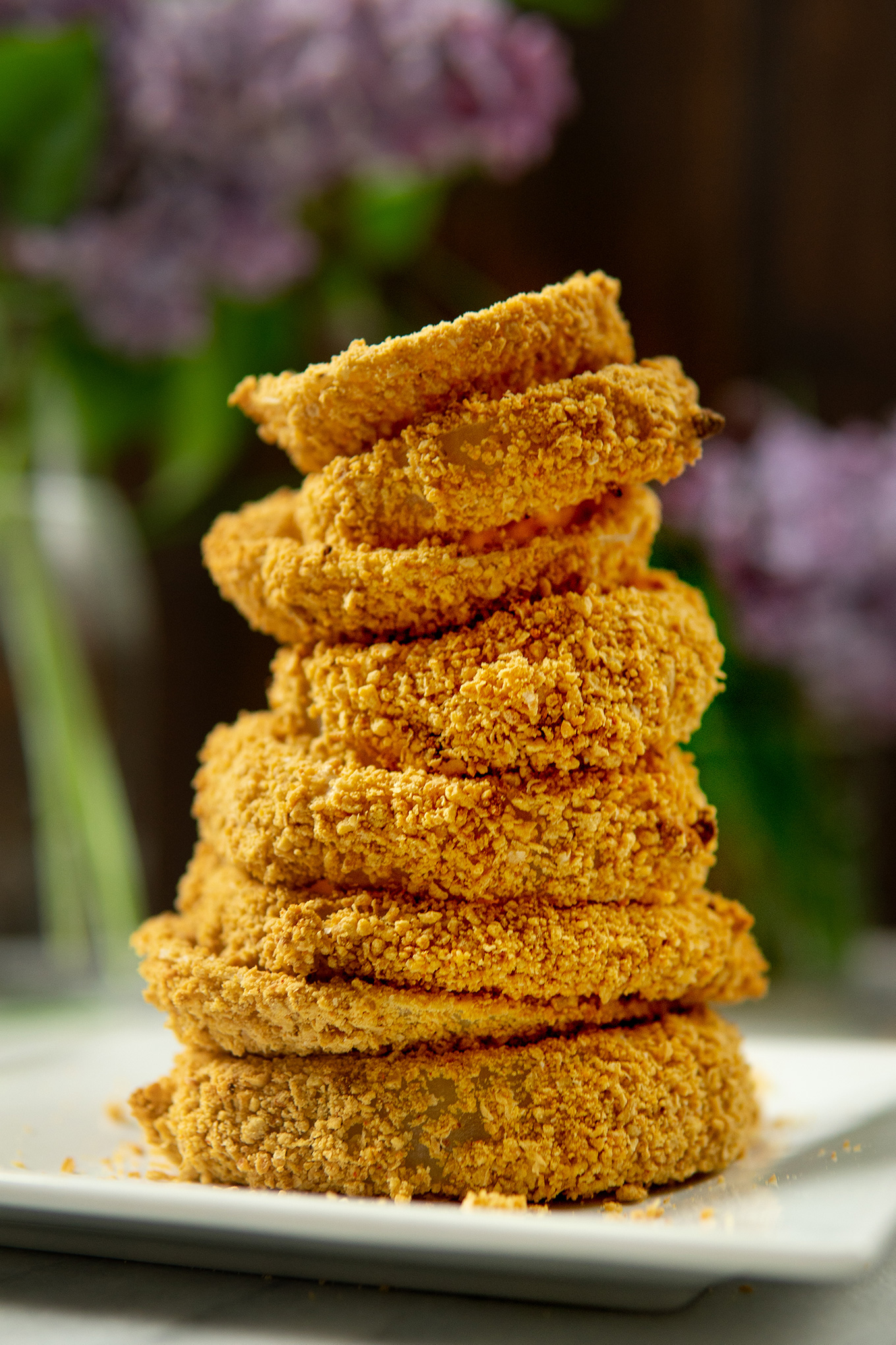 Vegan Baked Onion Rings