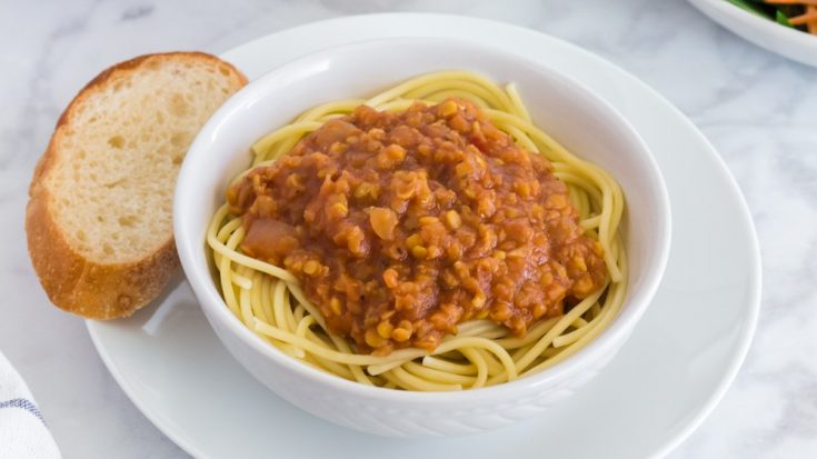 Vegan Bolognese Sauce with Pasta