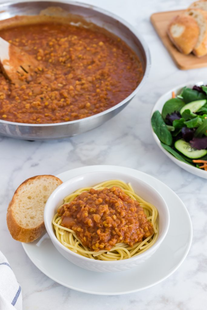 Vegan Red Lentil Bolognese